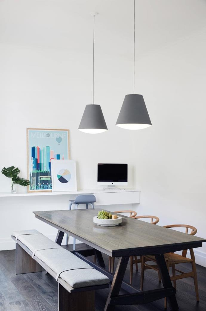 New furnishings for the home were selected for their are high functionality and simple lines.