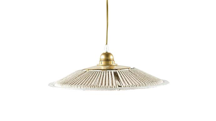 'Parasol' rope pendant light, from $180, [Tigmi Trading](https://tigmitrading.com/).