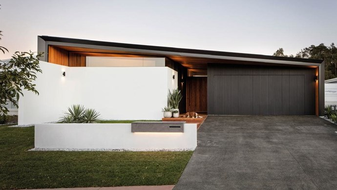 A mixture of modern architectural design and natural materials give this home a contemporary feel with extra warmth.