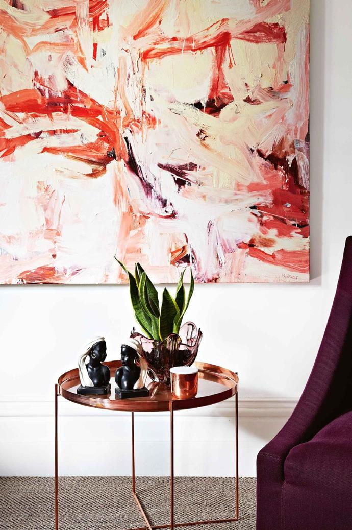 **ADD A TOUCH OF GLAMOUR** <br><br>A side table or lamp in copper or brass will instantly make a space look more luxe. For a subtle take on this idea, look to accessories such as a tray or candle holder to provide a metallic touch.<br><br>