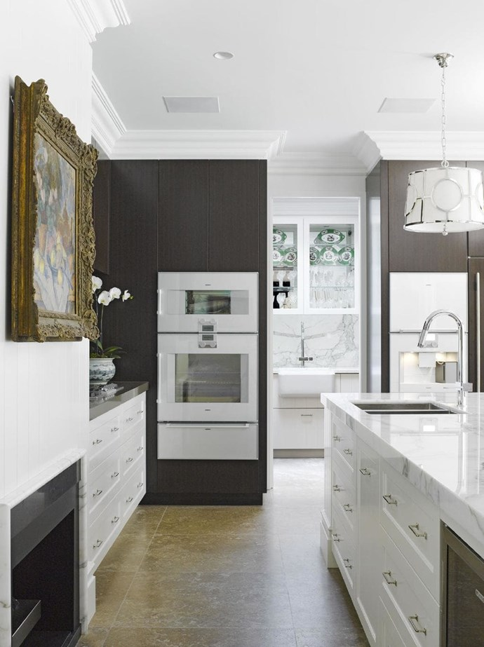 "Where a butler's pantry is visible from the main kitchen, consider using the same finishes for a cohesive look. Design by [Dan Kitchens](http://www.dankitchens.com.au/|target=""_blank""