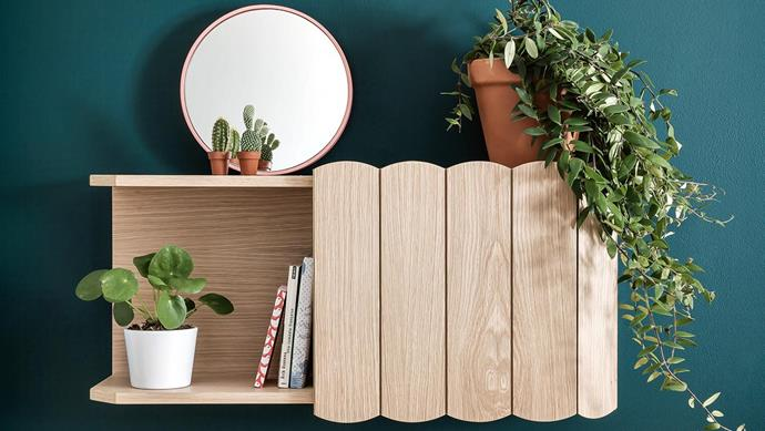 **Open and shut** Ideal for hiding away clutter, the Hartô 'Fanny' wall-mounted shelf offers open display space, too. It's $1240, go to [Clickon Furniture](https://www.clickonfurniture.com.au/).