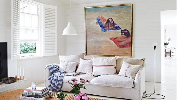 Get this relaxed Hamptons style with white panelled walls, crisp nautical touches and a hint of luxe Stylist: Julia Green, Photographer: Armelle Habib