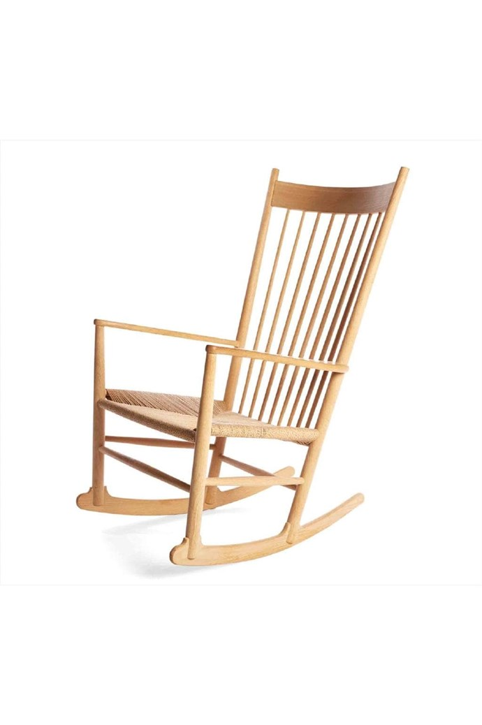 Inevitable sleepless nights are made a little easier with the luxe silver lining that is this iconic seat. Hans J. Wegner 'J16' rocking chair, $3150, [Great Dane](https://greatdanefurniture.com/)