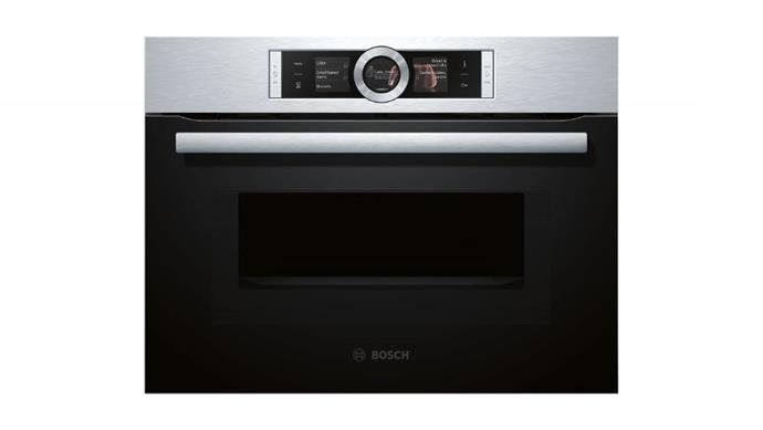 Combination oven: 'CMG656RS1A' 60cm compact oven with microwave function, $2899, [Bosch](http://bosch-home.com.au)