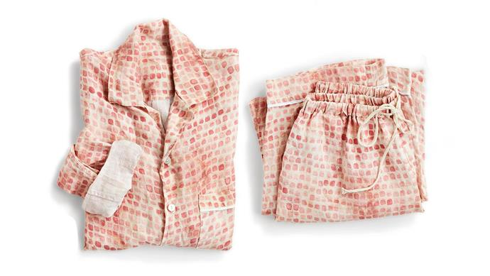 **Pretty in pink** The softness of 100 per cent flax linen is combined with a playful digital print by Prudence Caroline in Sister Brand's 'Greta' pyjamas, $249. Go to [Sister Brand](https://sisterbrand.com.au/).