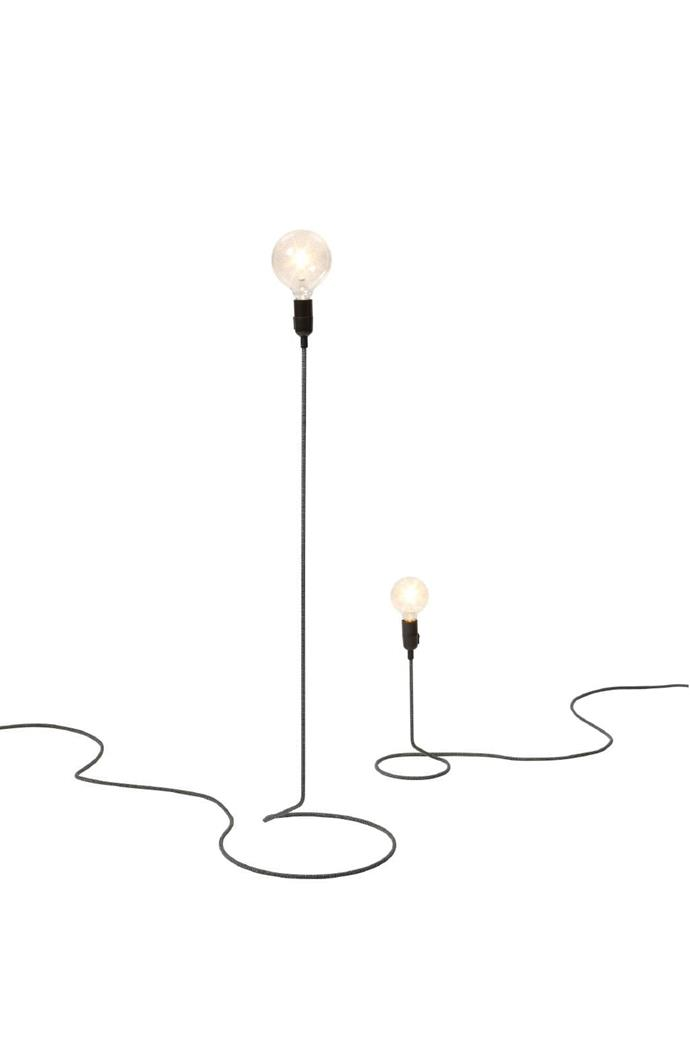 The refined silhouette of these lamps ensure that they won't crowd a pared-back space. Design House Stockholm 'Cord' lamp, from $400, [Vincent 2](http://vincent2.com.au/index.php/)