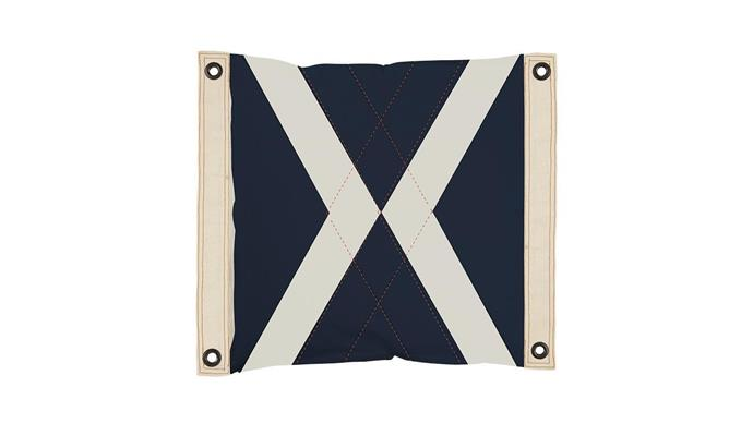 'World Flag' cushion, $109, [Pony Rider](http://www.ponyrider.com.au/).