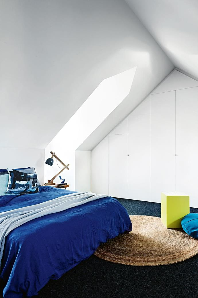 "**Sky high** Attic space can be easily converted into a guest bedroom with a few changes. Custom joinery makes the most of the angles, while a dormer window or skylight completes the transformation. *Design: [Olga Gruzdeff](http://olgagruzdeff.com/|target=""_blank""
