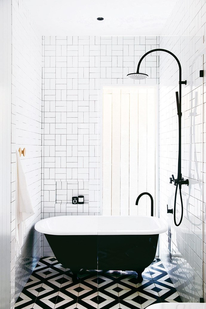 """This bathroom with a moderately sized [free standing bath tub](https://www.homestolove.com.au/freestanding-baths-4520