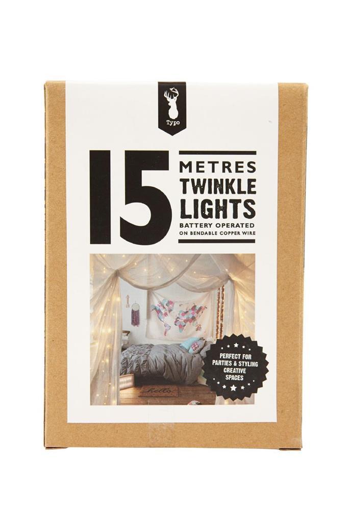 Twinkle lights, $49.99/15m, [Typo](http://typo.com)