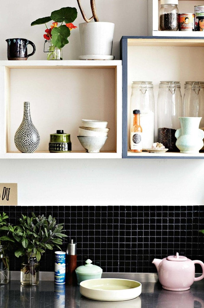 For a fresh take on open-shelving, try the boxed variety. Not only will it provide extra storage, but opting for various sizes creates a visually interesting display too. Try: Förhöja wall cabinet, $14.99, [Ikea](http://www.ikea.com/au/en/catalog/products/10252361/) Photographer: Derek Swalwell, Stylist: Jason Grant