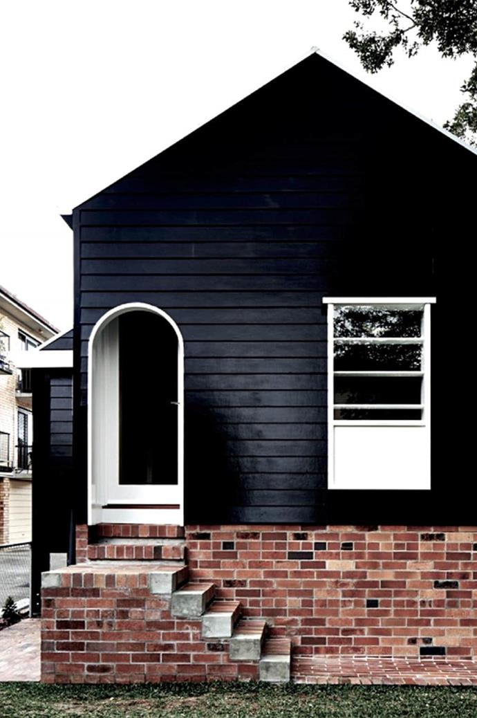 """Strong style begins at [the front door](https://www.homestolove.com.au/front-door-colour-ideas-19810