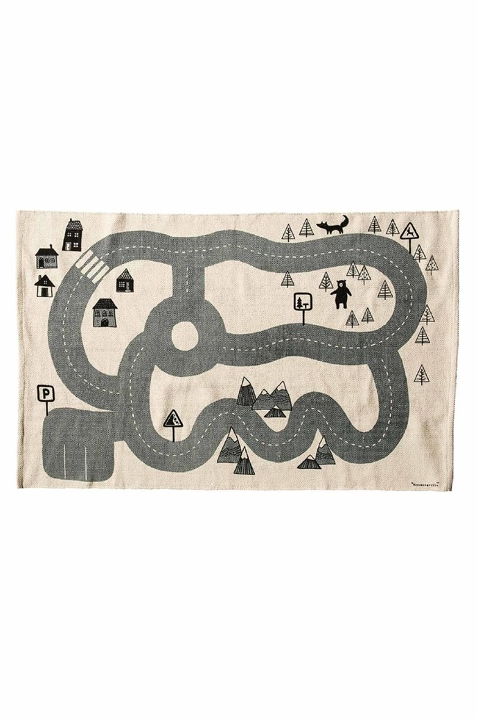 Bloomingville 'Mini City' rug, $165/100cm x 150cm, [Pip And Sox](https://www.pipandsox.com.au/)