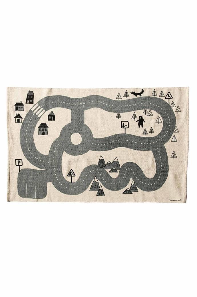 Bloomingville 'Mini City' rug, $165/100cm x 150cm, [Pip And Sox](https://www.pipandsox.com.au/)