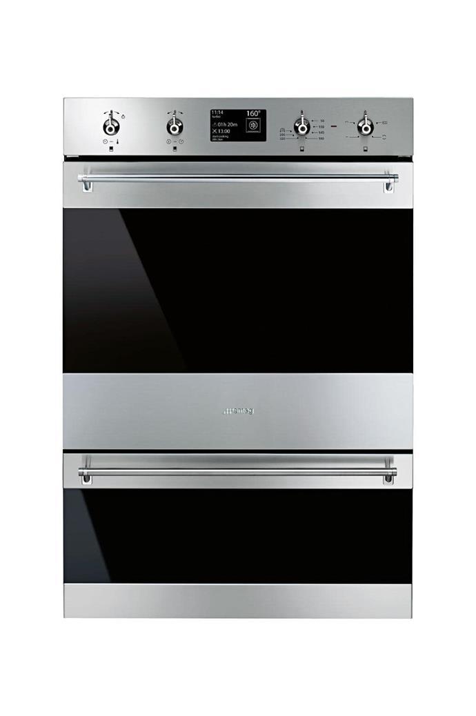Double oven: 'DOSPA6395X' 60cm thermoseal pyrolytic double oven, $3490, [Smeg](http://smeg.com.au)