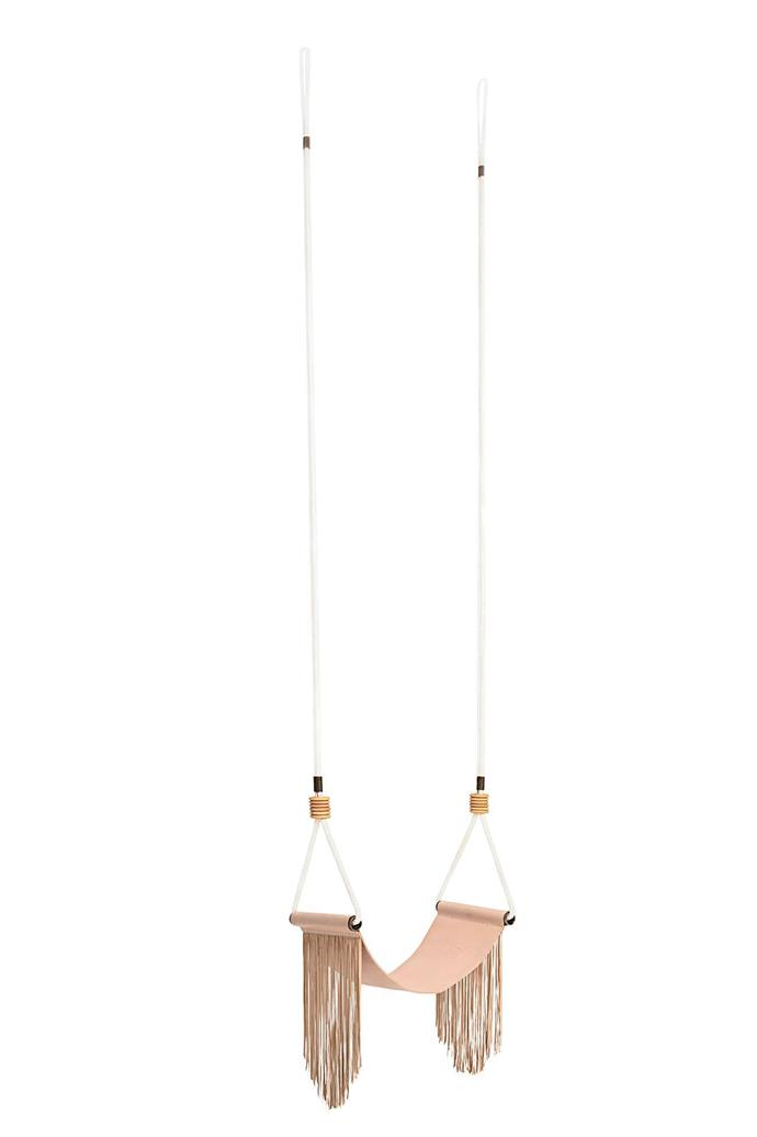 'Blush Palma' swing, $490, [Barnaby Lane](https://barnabylane.com.au/).
