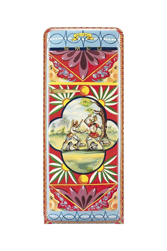 **Smeg x Dolce and Gabbana** Smeg collaborated with design powerhouse Dolce and Gabbana to create 100 unique FAB fridge designs for their _Refrigerator of Art_ collection. Here, **Gaetano Daniele Di Guardo** works his magic. [Visit Smeg](http://www.smeg.com.au/).