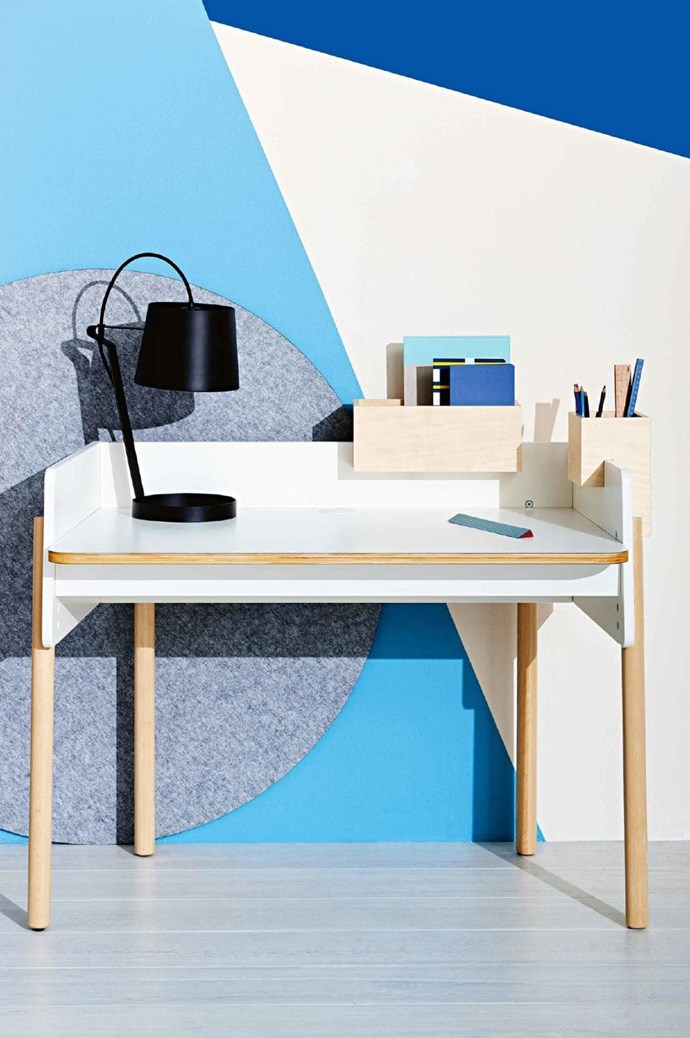 Keep clutter at bay with this smart desk. Storage compartments are raised off the work surface, while adjustable legs mean the desk can grow with your child. Oeuf 'Brooklyn' desk, $899, [Kido Store](https://www.kidostore.com/) Photographer: Nigel Lough, Stylist: Emmaly Stewart