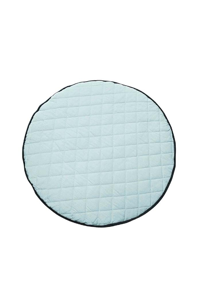 Playtime and tummy time take on a cosy and sophisticated edge with this super-soft and reversible mat in a chic seafoam tone. Quilted playmat, $89.95, [Mister Fly](http://misterfly.com.au/)