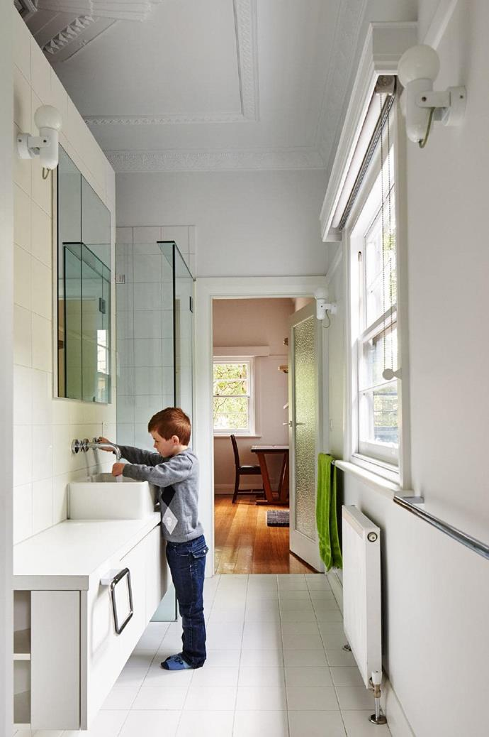 """""""We restored the original parts of the home, where we have two kids' rooms, a bathroom and living spaces."""""""