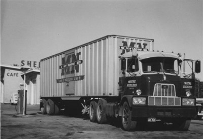 Mack H67 black and white photo