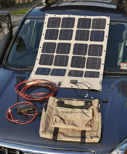 6858 A Compact 70W Solar System Like This Will Run A 40 Litre Fridge