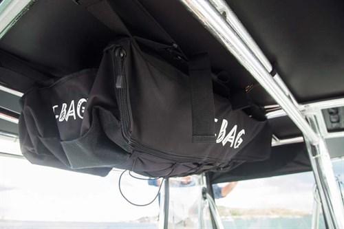 T-top storage bag on Contender 23 boat