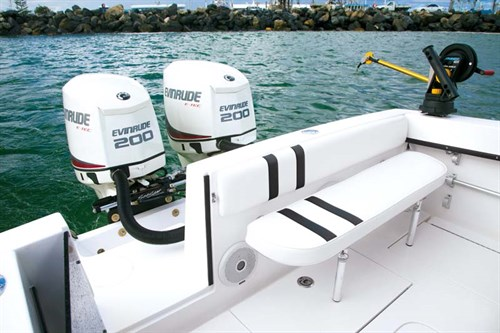 Twin 200hp E-TEC outboard motors