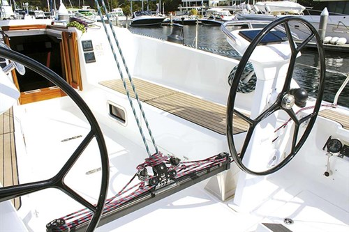 Helm on Bavaria Cruiser 41 Sport