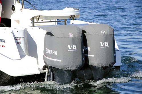 Twin Yamaha 225hp outboard motors