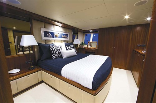 Master bedroom in Ocean Alexander 72