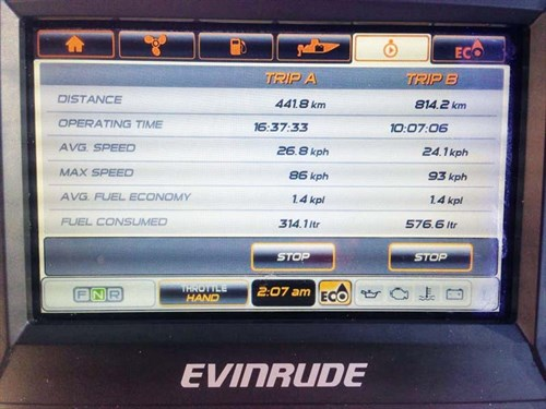 E-TEC 250 G2 display