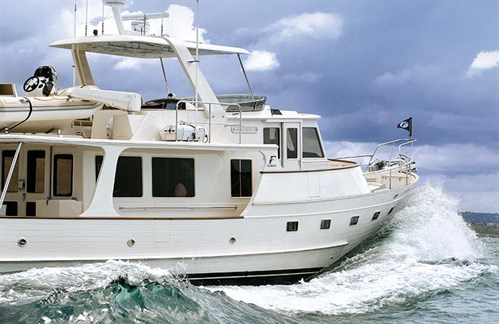 Fleming 55 Pilothouse underway