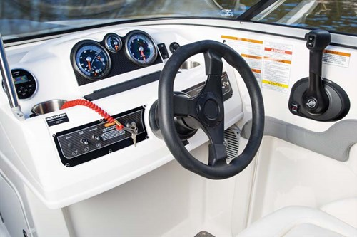 Steering wheel on Bayliner 190 Deck Boat
