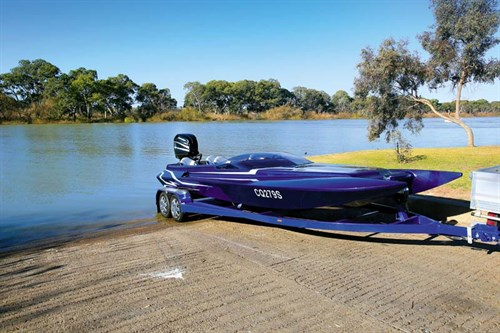Pro Custom Terminator at boat ramp