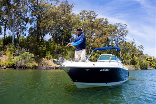 Fishing from a Robalo R227