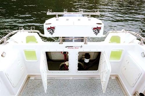 Haines Hunter 675 Offshore transom