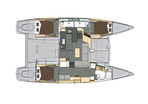 Fountaine Pajot Helia 44 layout plan