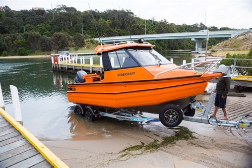 Stabicraft 2050 Supercab at boat ramp