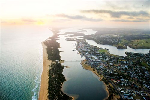 Lakes Entrance in Gippsland