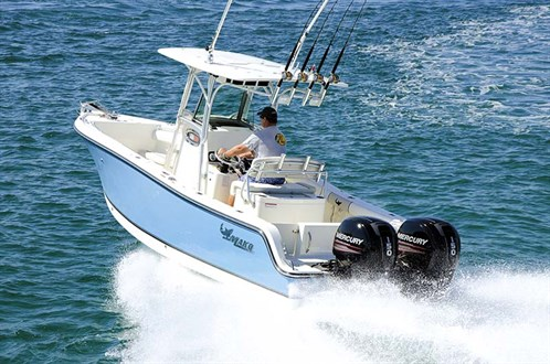 Mako 234 CC with twin outboard motors
