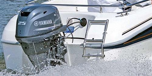 Yamaha F25D on boat
