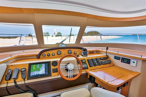 Helm on Fountaine Pajot Summerland 40