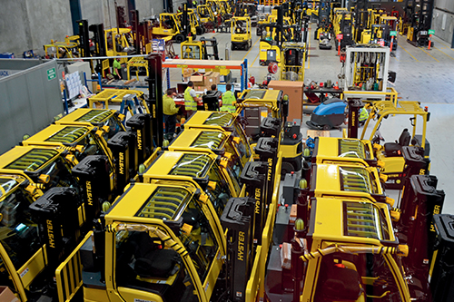 Hyster electric forklifts