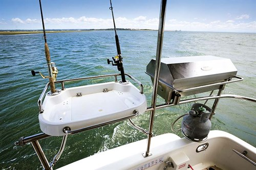 Bait station on Integrity 350 Flybridge