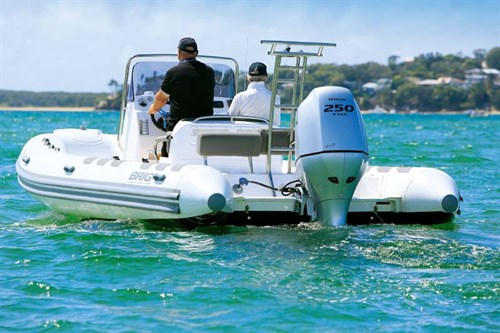 Brig Navigator 700 with 250hp Honda outboard