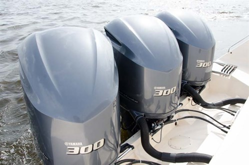 Triple Yamaha 300hp outboard motors
