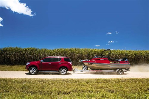 Towing a boat through the Atherton tablelands