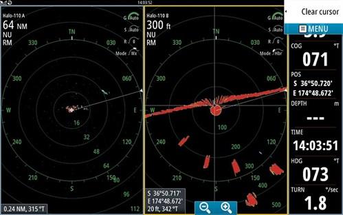 Halo radar display
